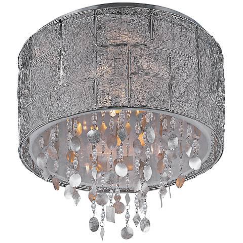"Maxim Allure 16"" Wide Polished Nickel Ceiling Light"