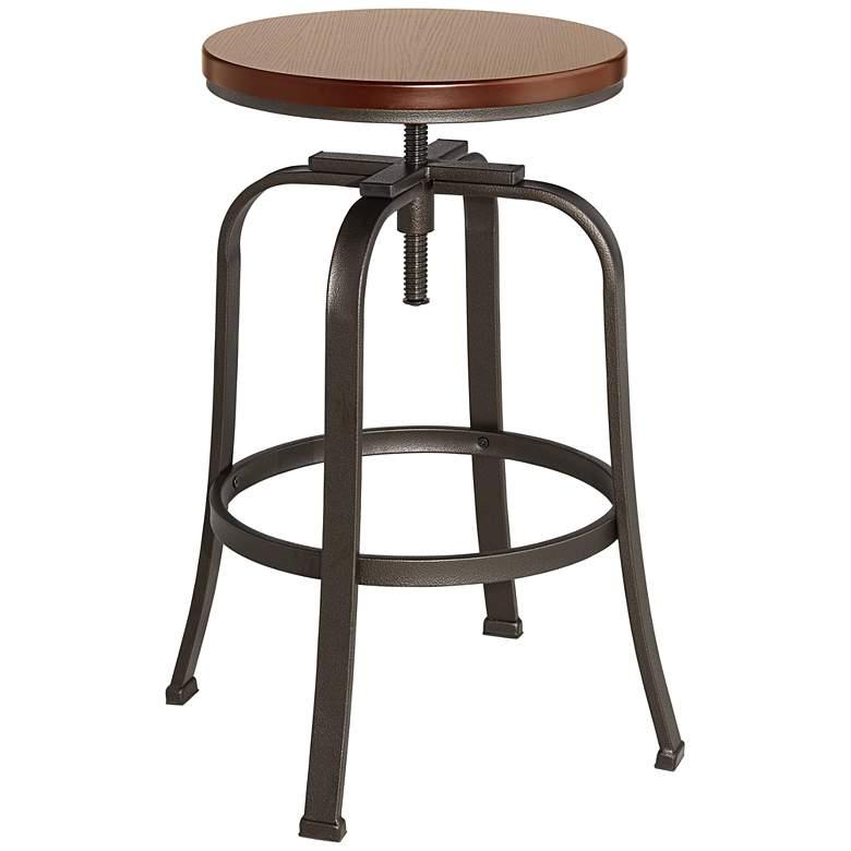 Radin Hammered Bronze Adjustable Height Swivel Bar Stool