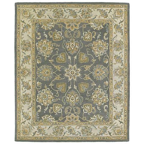 Kaleen Solomon 4056-73 Ezekial Pewter Wool Area Rug