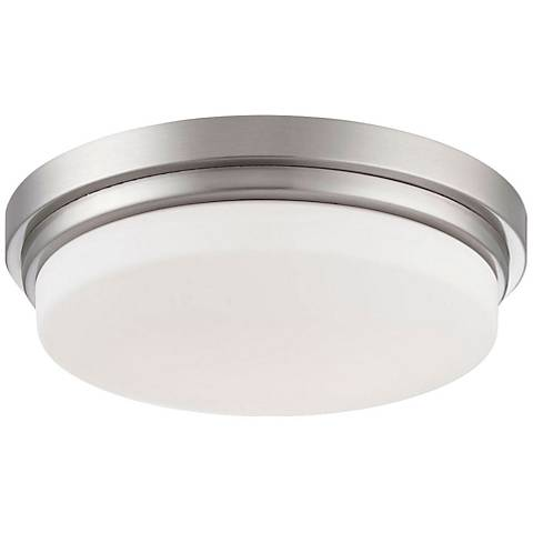 "Eurofase Wilson 12 3/4"" Wide Satin Nickel LED Ceiling Light"