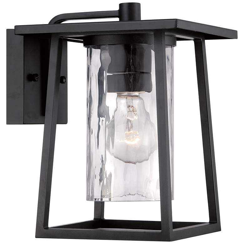 """Quoizel Lodge 10 1/2"""" High Black Outdoor Wall Light"""