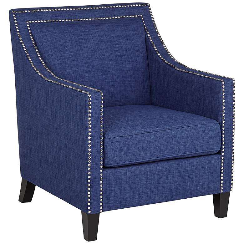 Flynn Navy Blue Upholstered Armchair