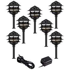 landscape lighting kits complete landscaping sets lamps plus