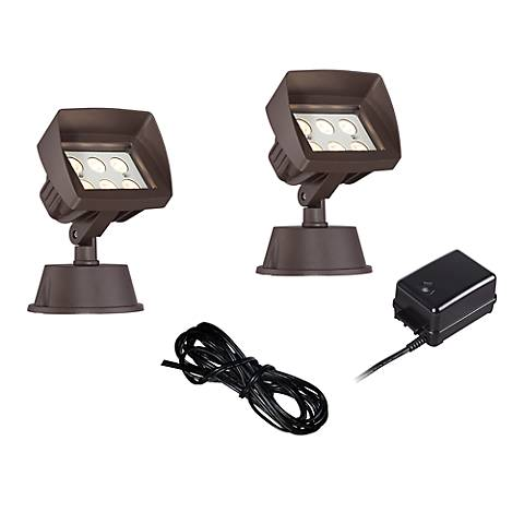 Super Duty Eastham Bronze 4-Piece LED Landscape Light Set