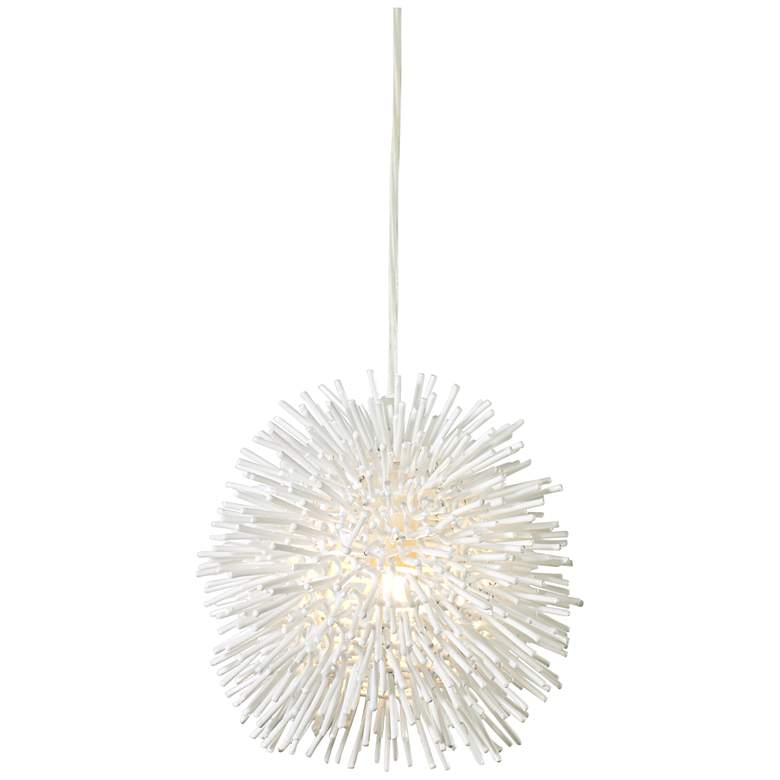 "Varaluz Urchin 6 1/4"" Wide White Mini Pendant Light"