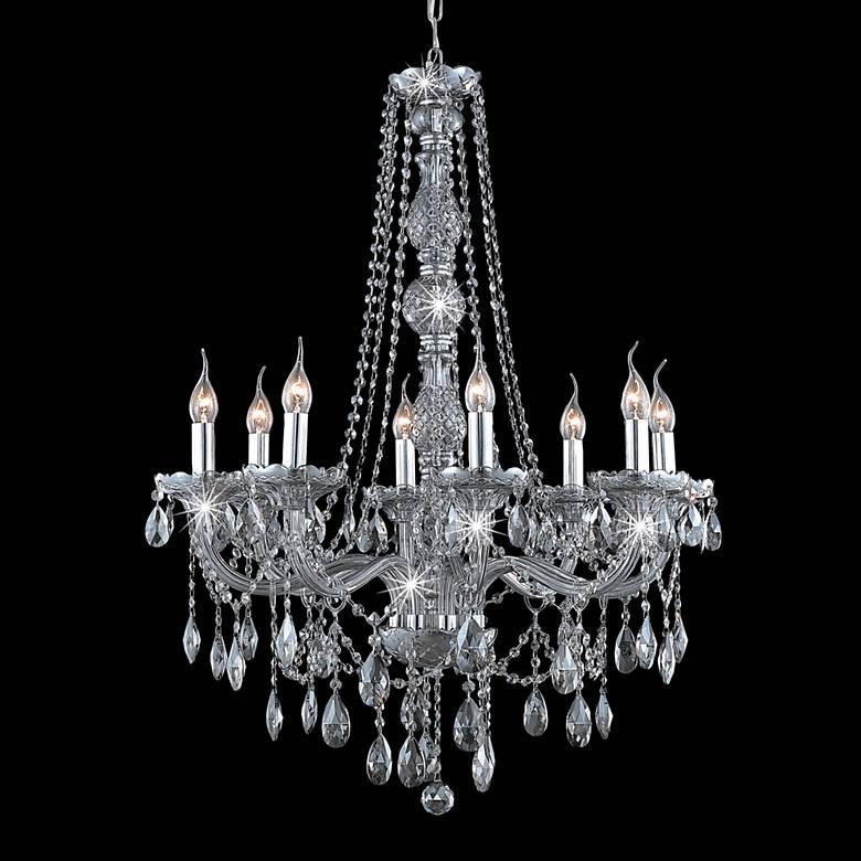 "Verona Collection 28"" Wide Silver Chandelier"