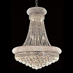 Primo Collection 28 Wide Royal Cut Crystal Chandelier