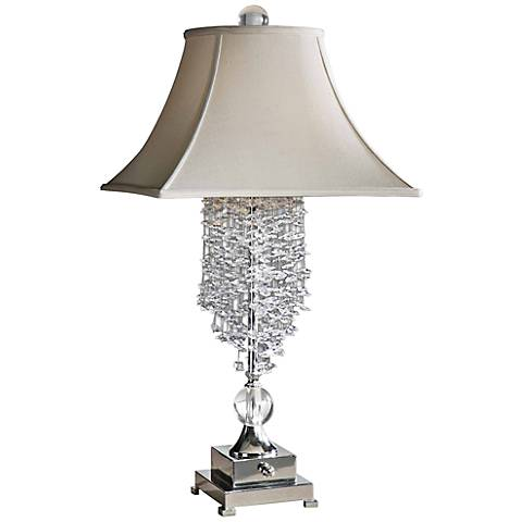 Uttermost Fascination II Silver Plated Table Lamp