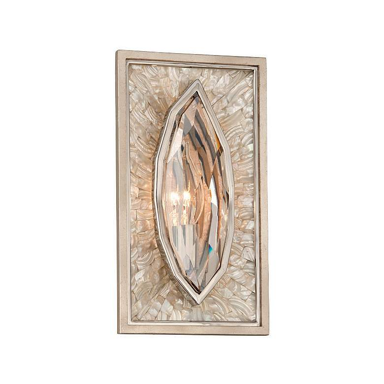 """Corbett Hard to Get 11 1/2"""" High Silver Leaf Wall Sconce"""