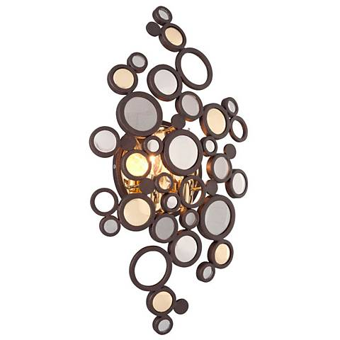 "Corbett Fathom 21 1/2"" High Crystal Disc Wall Sconce"