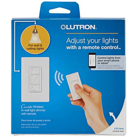 Caseta White Wireless Remote In-Wall Light Dimmer Kit