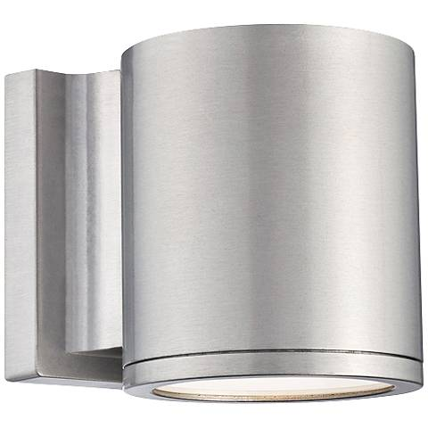 "WAC Tube 6"" High Brushed Aluminum LED Outdoor Wall Light"