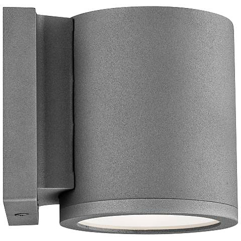 """WAC Tube 6"""" High Graphite LED Outdoor Wall Light"""