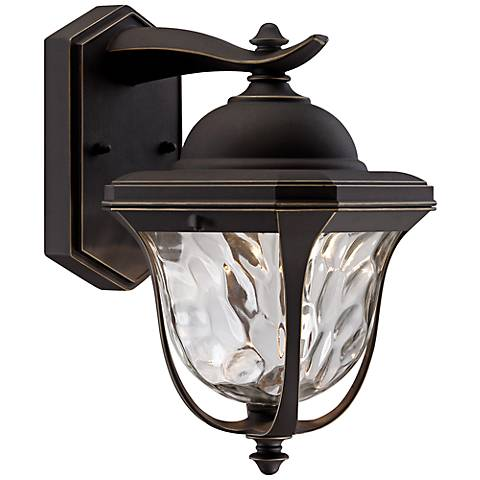 "Marquette 13 1/2"" High LED Bronze Outdoor Wall Light"