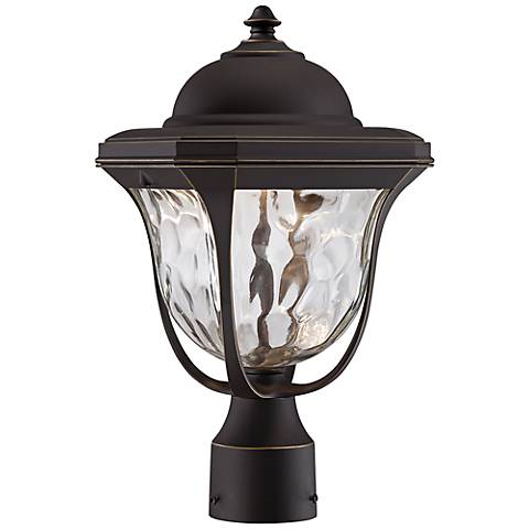 "Marquette 15 1/4"" High LED Bronze Outdoor Post Light"