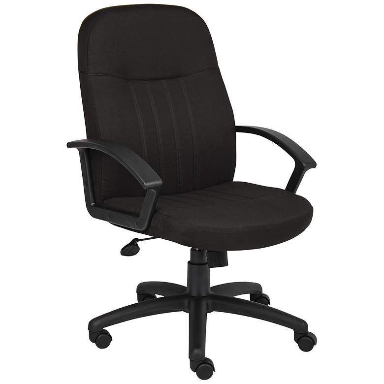 Boss Black Fabric Mid-Back Managers Chair