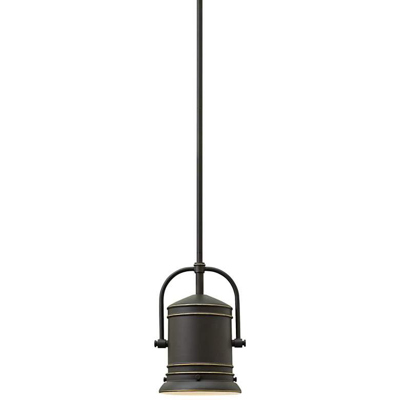 """Hinkley Pullman 7 1/4"""" Wide Oil-Rubbed Bronze Mini Pendant"""