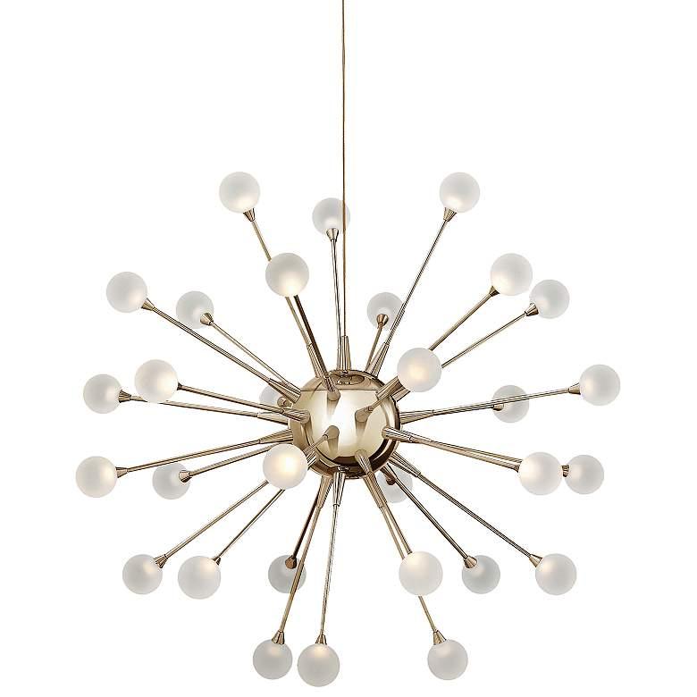 """Impulse 24"""" Wide Gold Finish LED Sputnik Chandelier"""