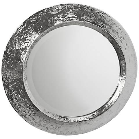 "Regina Andrew Design Nickel Plated Convex 24"" Round Mirror"