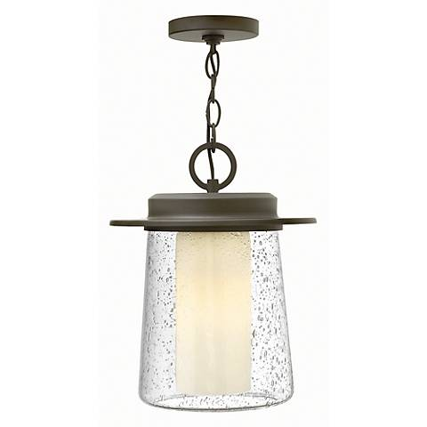 "Hinkley Riley 14"" High Bronze Outdoor Hanging Light"