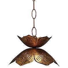 Jamie young company mini pendant pendant lighting lamps plus jamie young flowering lotus 10 12 wide gold mini pendant aloadofball Choice Image