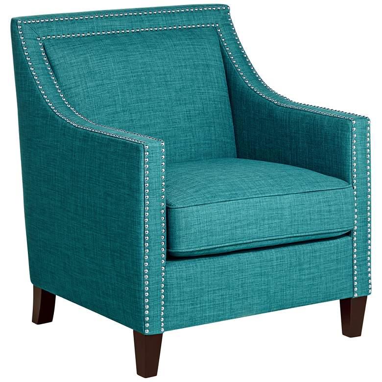Flynn Teal Upholstered Armchair