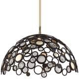 """Corbett Fathom Collection 30"""" Wide Bronze LED Dome Pendant"""