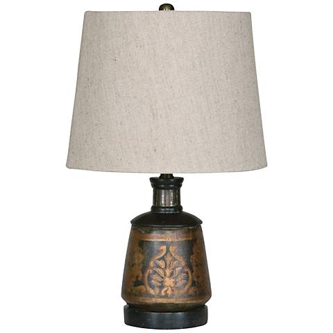 "Uttermost 17"" high Mela Terracotta Accent Table Lamp"