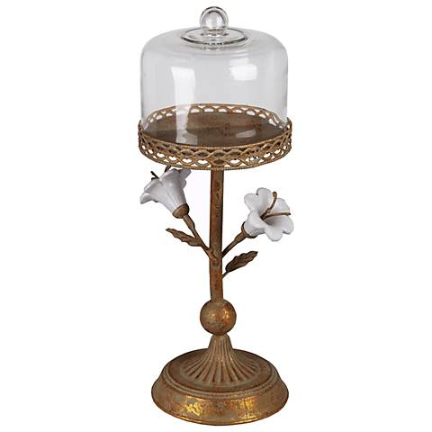 Calista Medium Metal Flower Pillar Candle Holder