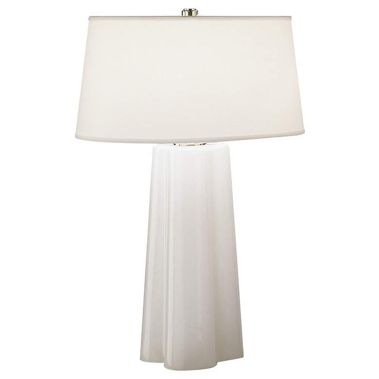 Robert Abbey Wavy Collection White Cased Glass Table Lamp