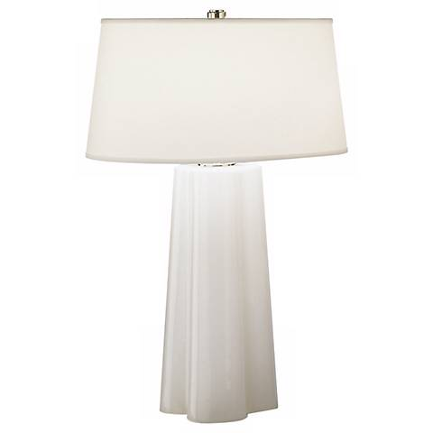 Robert abbey wavy collection white cased glass table lamp 50582 robert abbey wavy collection white cased glass table lamp aloadofball Images