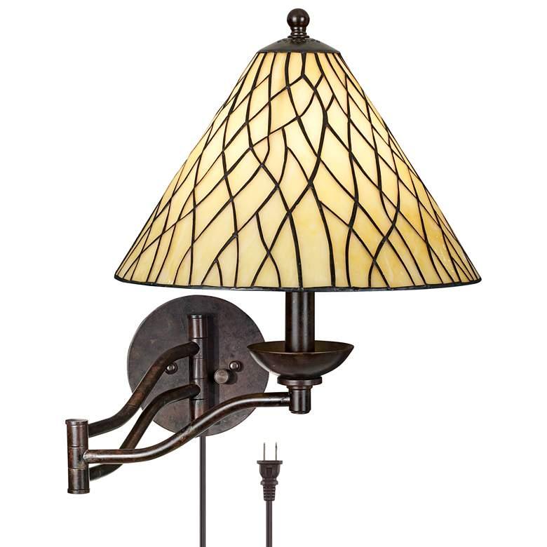 Robert Louis Tiffany® Iron Vine Swing Arm Wall Lamp