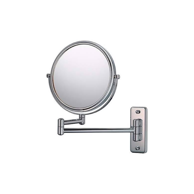 Aptations Silver Chrome 5X Magnifying Makeup Wall Mirror