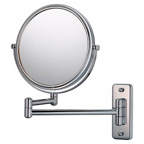 "Aptations Swing Arm Silver Chrome 7 3/4"" Wide Vanity Mirror"