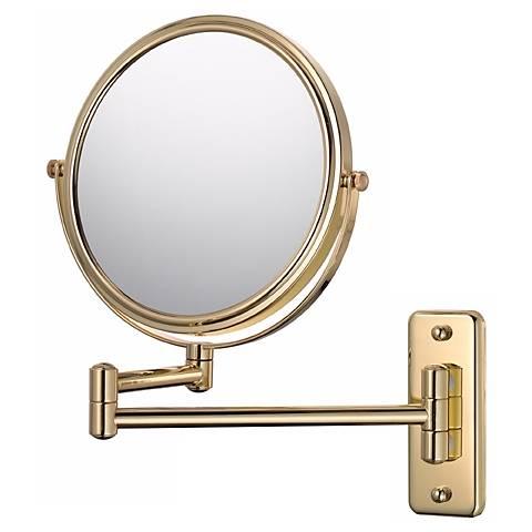 Gold Finish Swing Arm Vanity Mirror
