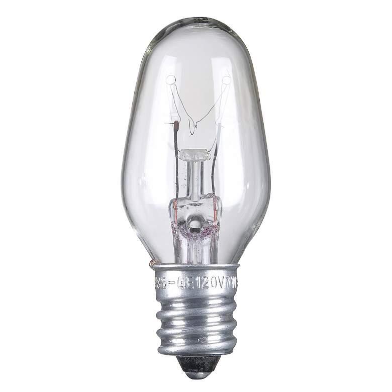7 Watt C-7 Clear Candelabra Light Bulb