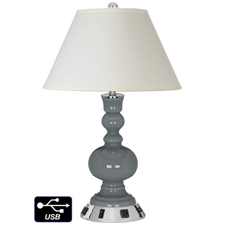 White Empire Apothecary Lamp - 2 Outlets and USB in Software