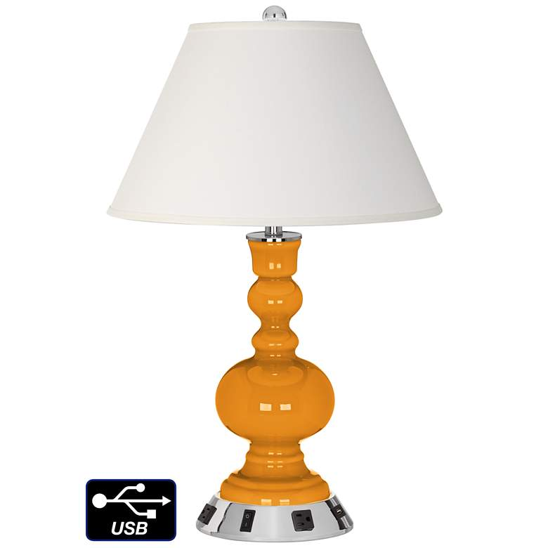 Ivory Empire Apothecary Lamp - 2 Outlets and USB in Carnival
