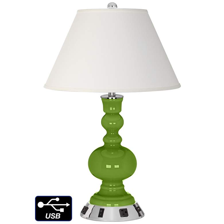 Ivory Empire Apothecary Lamp - 2 Outlets and USB in Gecko