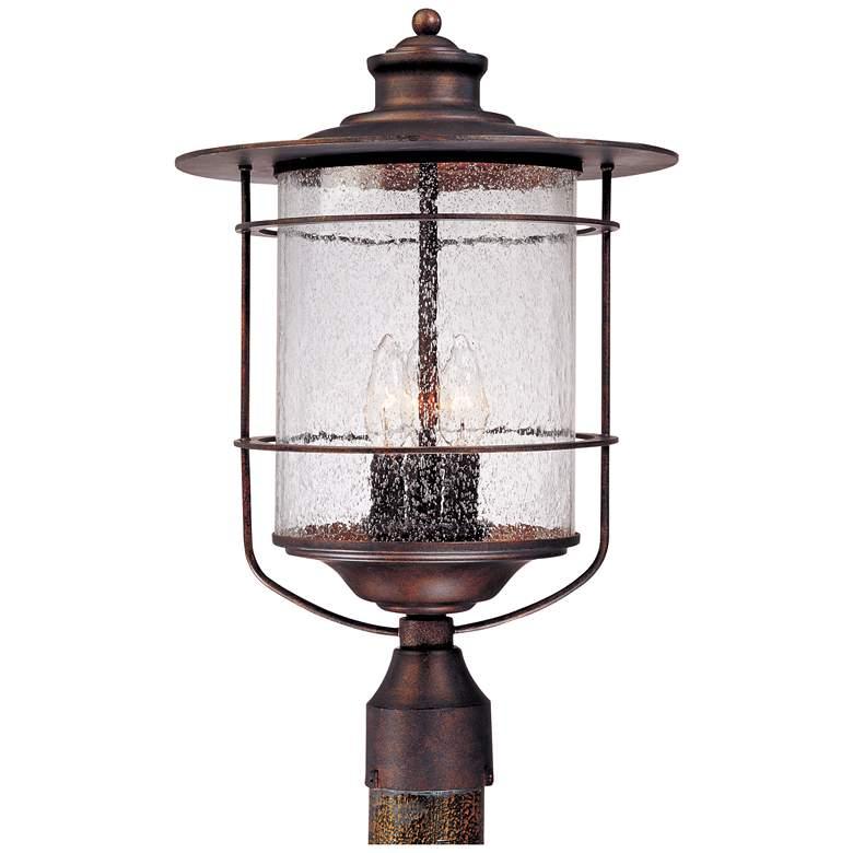 """Casa Mirada 19 3/4"""" High Bronze 3-Light Outdoor Post Light"""