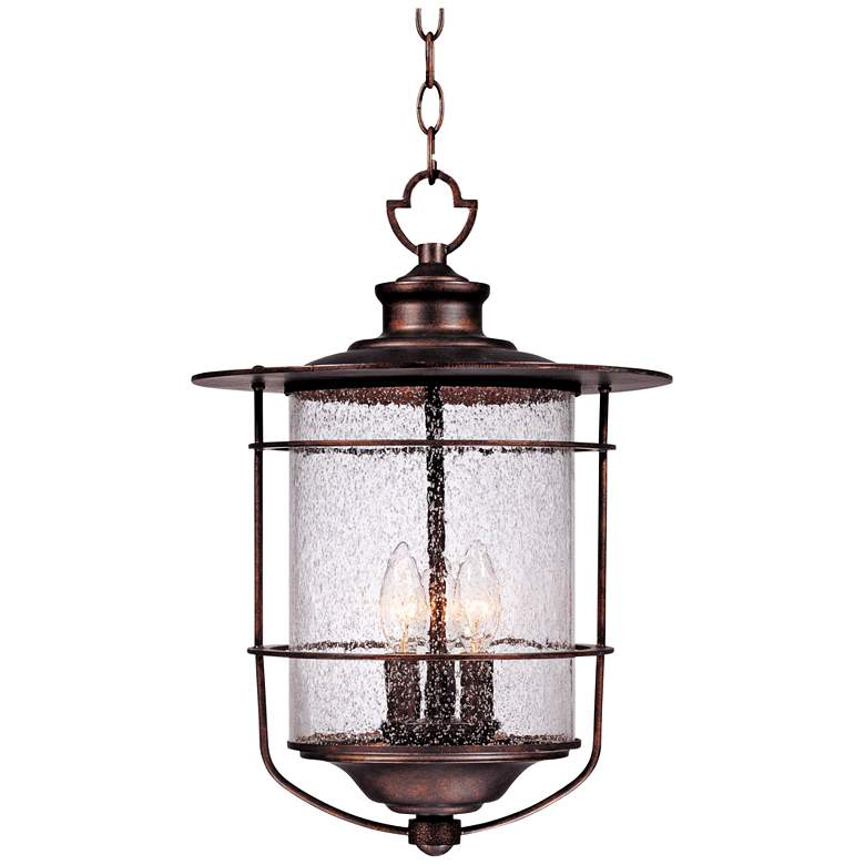 "Casa Mirada 19"" High Bronze 3-Light Outdoor Hanging Light"