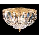 James R. Moder Empire Gold Crystal Ceiling Fixture