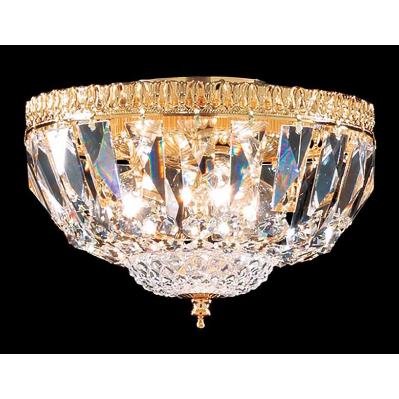 "James R. Moder 9""W Gold and Swarovski Crystal Ceiling Light"