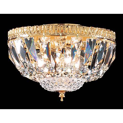 James R. Moder Empire Gold Swarovski Crystal Ceiling Fixture