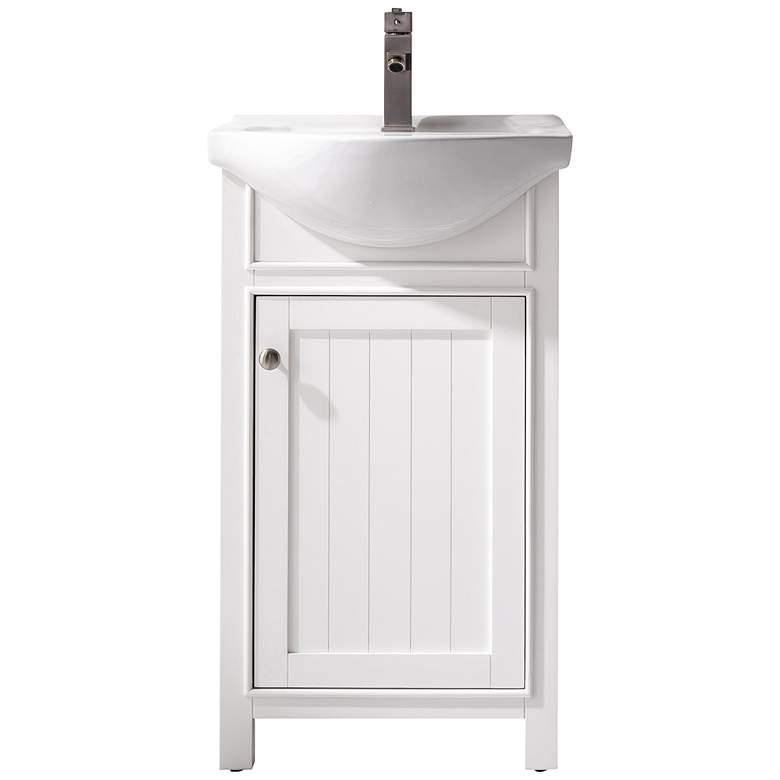 """Marian 20""""W 1-Door White Porcelain-Top Single Sink Vanity"""
