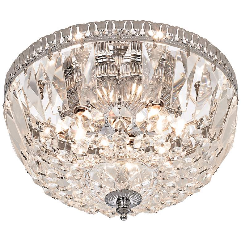 "James R. Moder 9""W Hand Cut Crystal Ceiling Fixture"