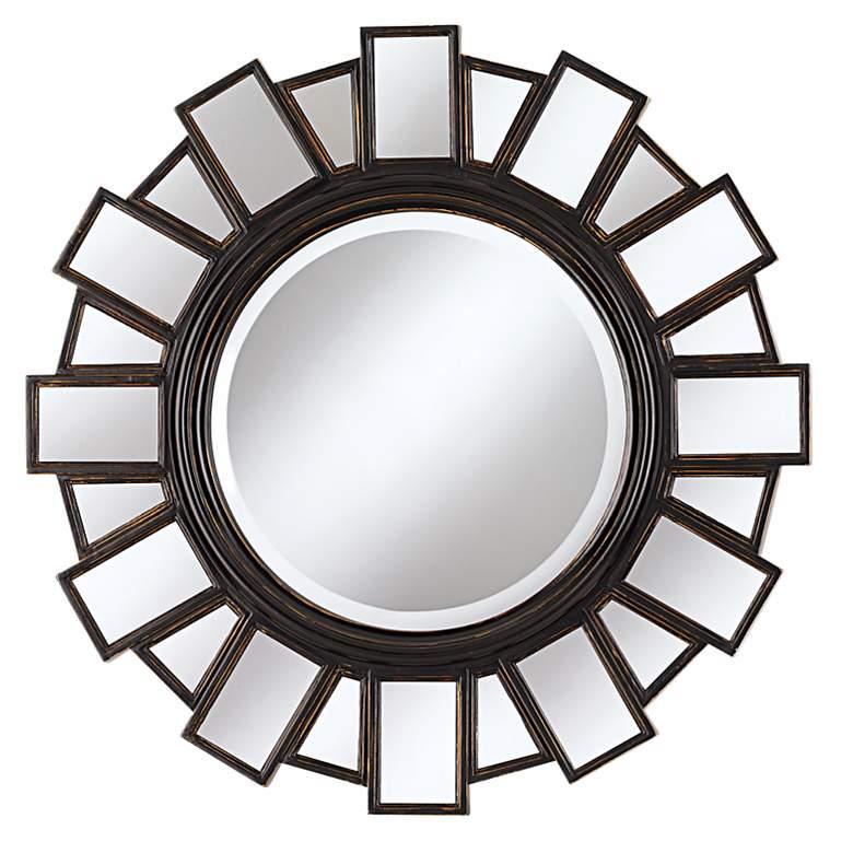 """Moonlight 35 1/2"""" Wide Wall Mirror"""