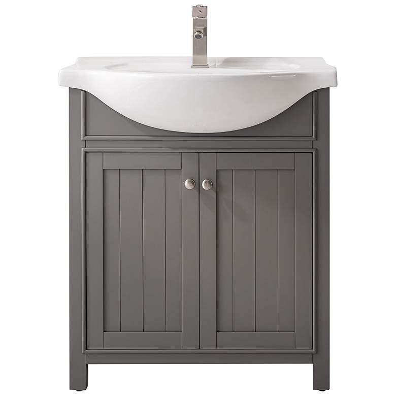 """Marian 30"""" Wide 2-Door Gray Porcelain-Top Single Sink Vanity"""