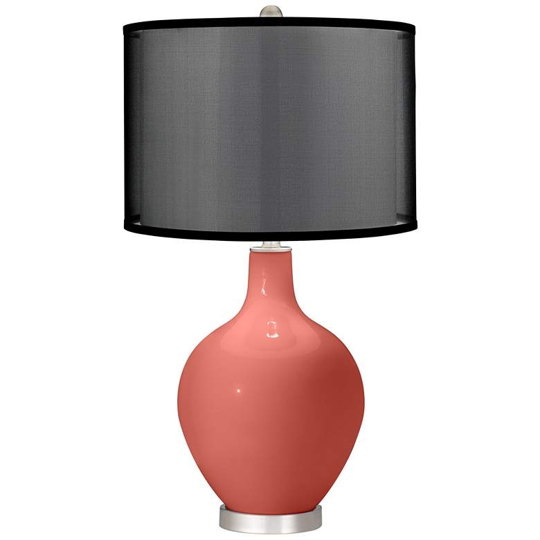 Coral Reef Ovo Table Lamp with Organza Black Shade