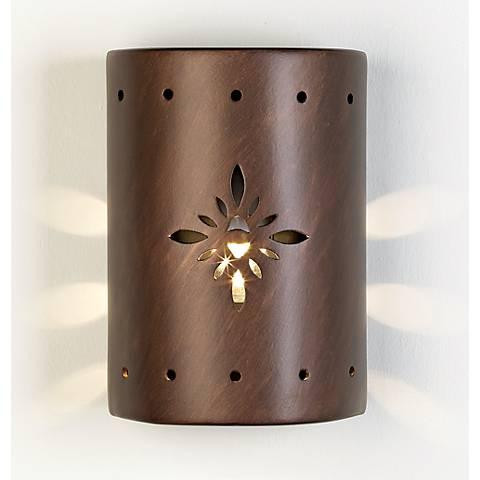 Ceramic Star Pattern Outdoor Wall Light